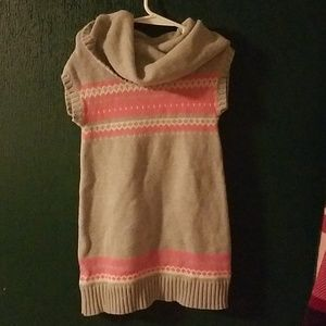 Girls cowl neck sweater dress